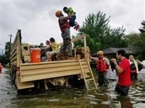 Texas National Guard members come to the aid of citizens following Hurricane Harvey