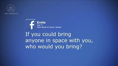 Thumbnail for video 'Kids' Questions – Part 7: If you could bring anyone in space with you, who would you bring?'