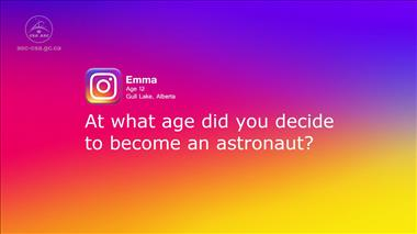 Thumbnail for video 'Kids' Questions – Part 2: At what age did you decide to become an astronaut?'